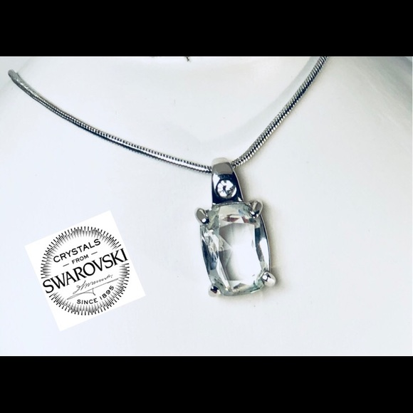 Swarovski jewelry rectangle clear crystal pendant necklace poshmark swarovski rectangle clear crystal pendant necklace aloadofball Gallery